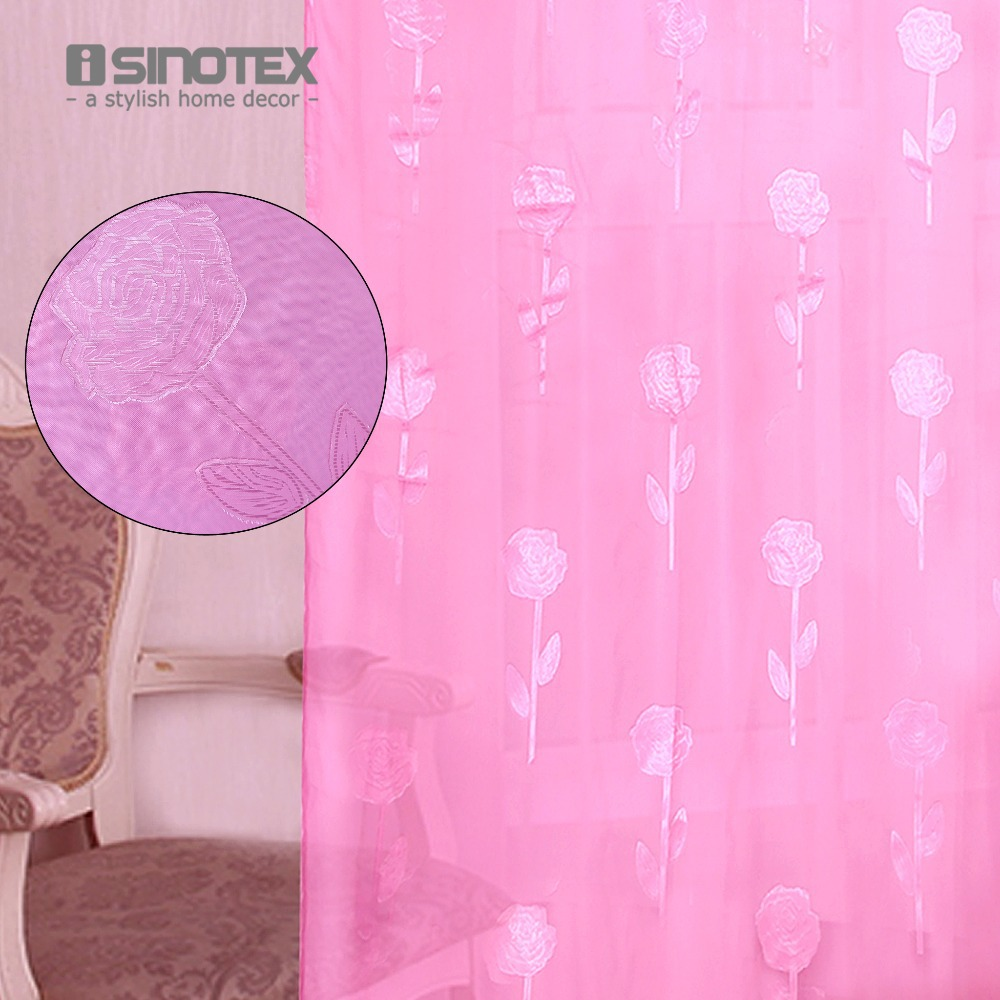 1PCS/Lot 140x240cm Window Screening Curtain Rose Flowers Curtains For Living Room Bedroom Floral Purdah Home Decor Drap Cortina