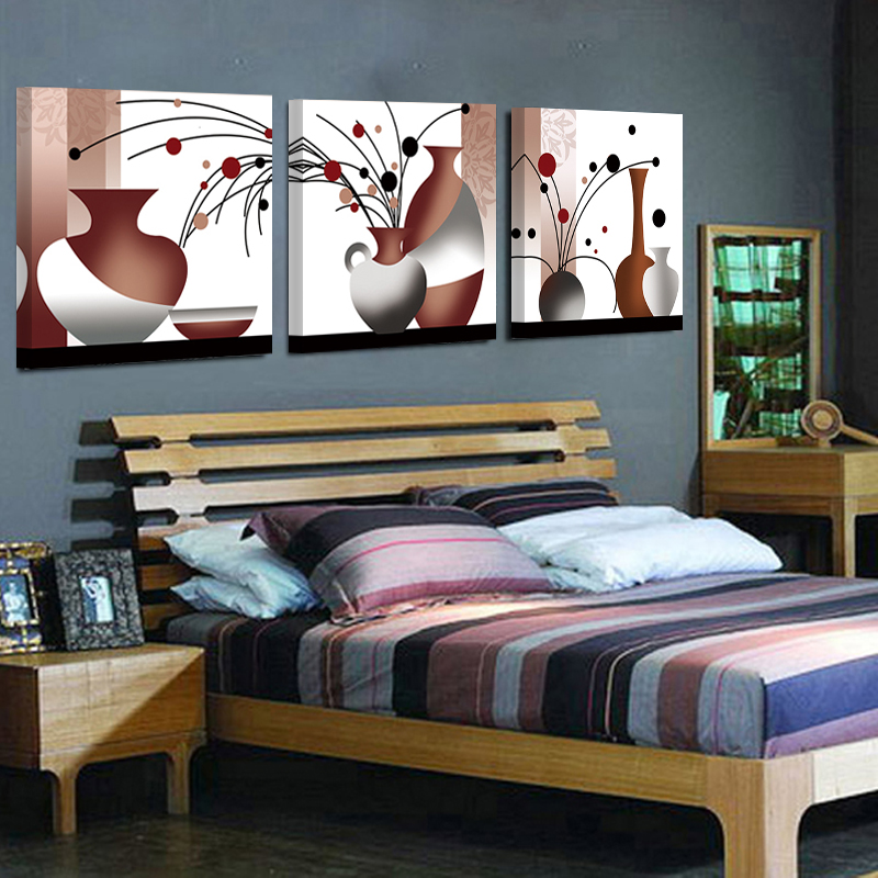 No Frame 3jigsaw Sale Rushed Cuadros Canvas Painting Abstract vase On The Wall Large-scale Art Home Decoration Room and bedroom