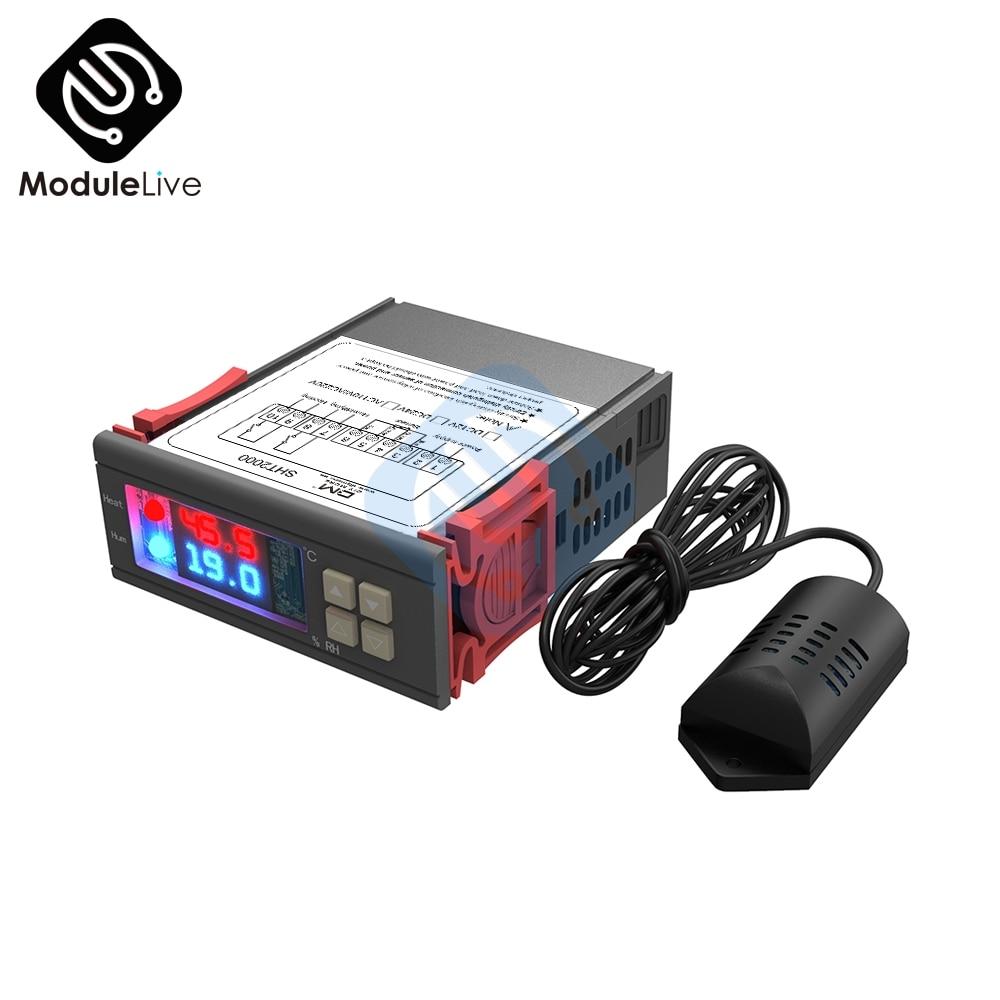 Digital Humidity Temperature Controller SHT2000 Thermostat Humidistat Therometer Hygrometer fridge Water Heater AC 110V 220V 10A