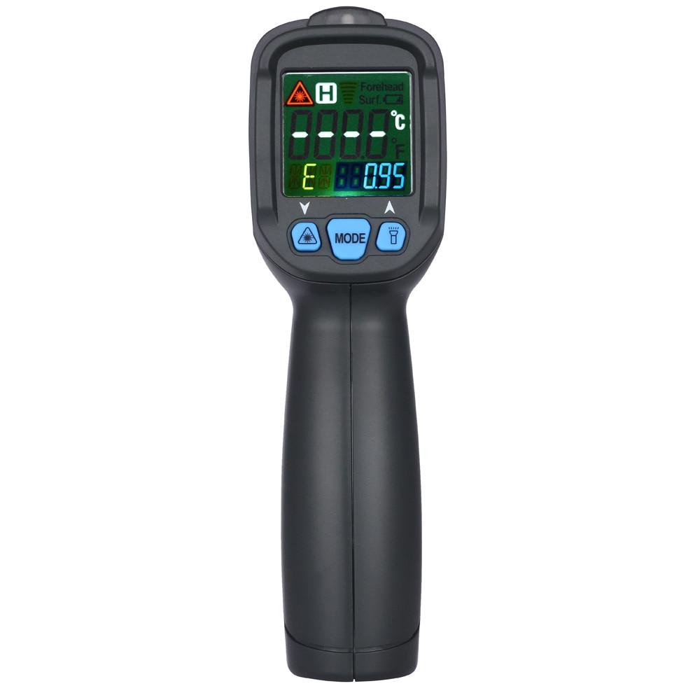 BSIDE BTM21C numérique IR infrarouge Laser thermomètre couleur LCD Double rangée affichage Handhold Test dispositif testeur de température extérieure
