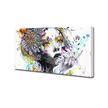 HDARTISAN Canvas Art Wall Picture Figure Painting Woman With FLowers For Living Room Home Decor No Frame(China)