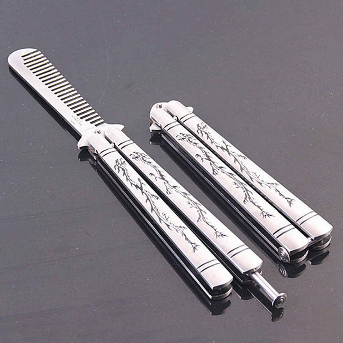 Инструмент для ножей тренировочный складной нож Balisong нержавеющая сталь Драконий узор титановое покрытие Бабочка Стиль тусклый клинок