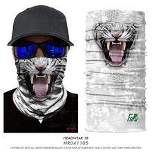 Hot Vivid Creepy Tiger Head Mask half Face cotton Animal Party Masquerade Halloween Costume Props Novelty Christmas