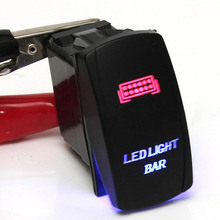 Mayitr 1 Set Car Blue Red LED Light Bar ON/OFF Rocker Toggle Switch Relay Wiring Harness for LED Off Road Lights