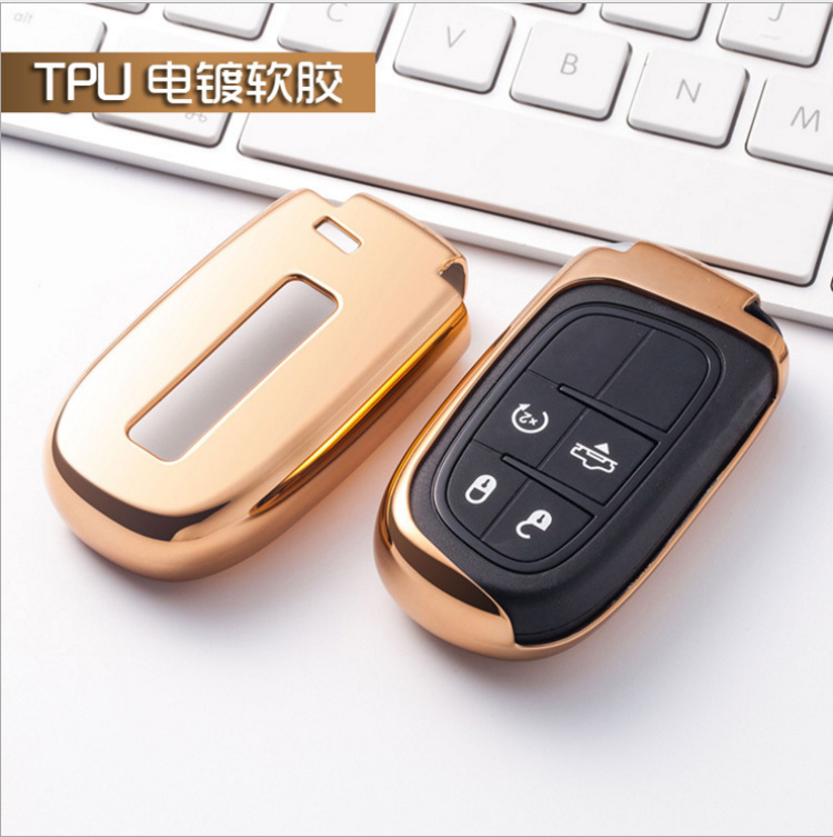Soft TPU Auto Remote Car Case Key Bag Shiny TPU Holder Shell Bag For Dodge Journey Jeep Cherokee Grand Cherokee Renegad keyless in Key Case for Car from Automobiles Motorcycles