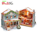Cubic fun of 3D Christmas LED with lights P667H P666H Alice Eric's Christmas cabin Educational Toys for Children's  gifts