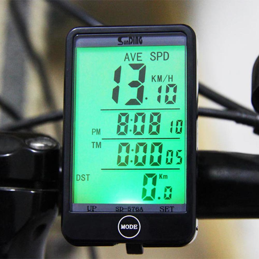 Suding Top Rated SD - 576A Waterproof Bike Computer Light Mode Touch Wired Bicycle Computer Cycling Speedometer LCD Backlight