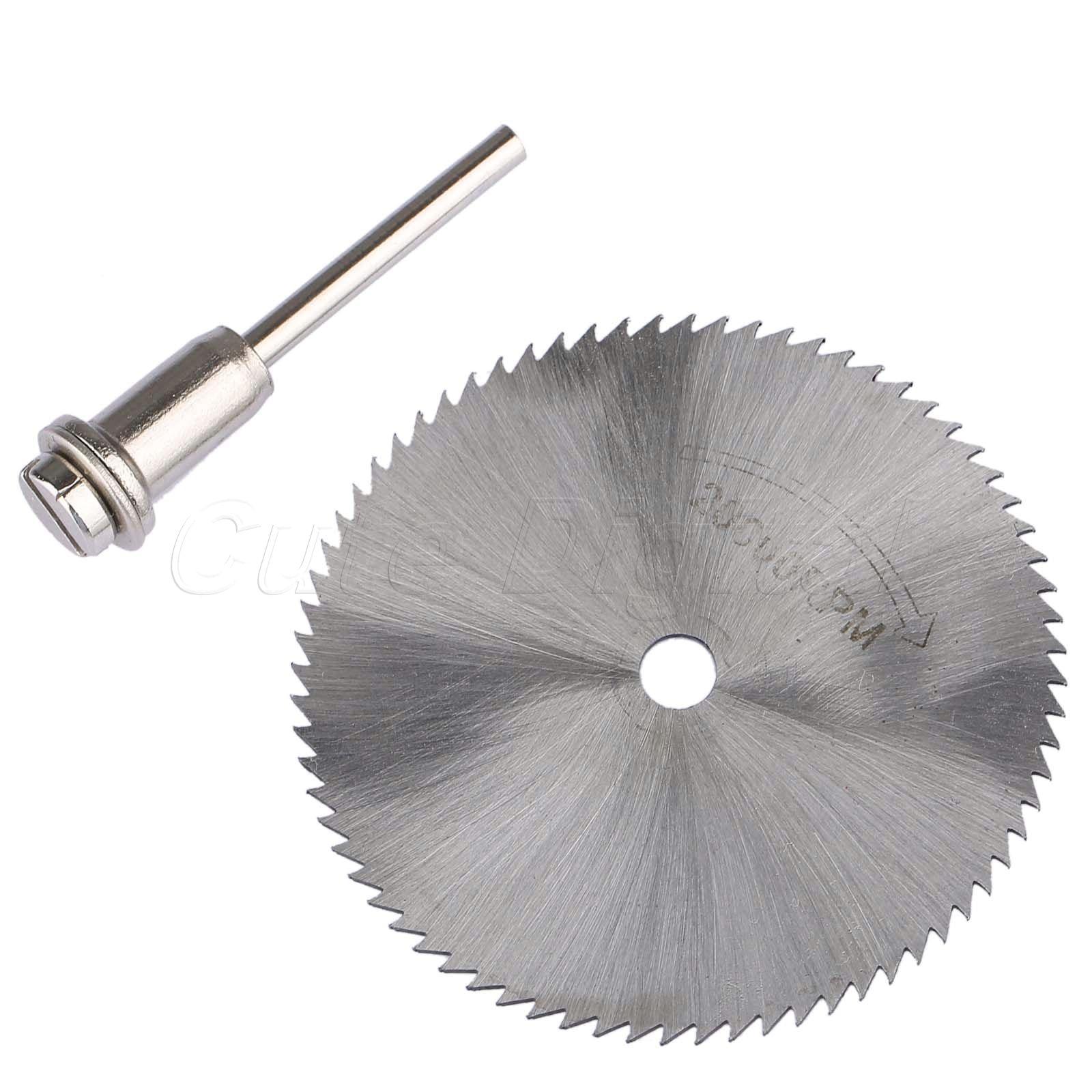 60mm Diamond Cutting Disc Mandrel Mini Circular Saw Blade Electric Saw For Drill Steel Rotary Cutting Tool Dremel Accessories