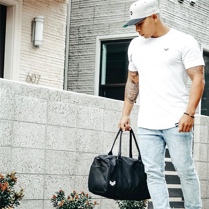 Men gyms Fitness t shirt Bodybuilding Shirts Fashion Casual Male Short sleeve cotton Tees Tops clothing 33