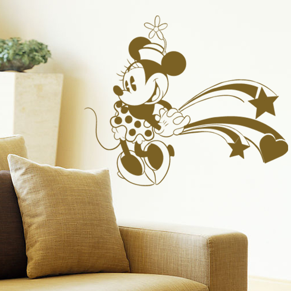 ... Online 3d Diy Mickey And Minnie Mouse Wall Stickers For Kids ...