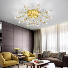 Modern Crystal Decoration Chandeliers Ceiling For Living Room Bedroom Dining Room Black/Gold Iron Chandelier lighting Fixture modern crystal chandeliers for dining room gold crystal chandelier pendants crystal light fixtures ceiling chandelier lighting