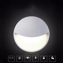 US/EU/AU/UK Plug LED Night Light Light Sensor Controlled Wall Socket Light AC110-220V for Bedroom Bedside Night Lamp DA