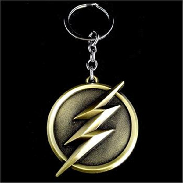 dc comics superhero the flash lightning logo keychains key chain