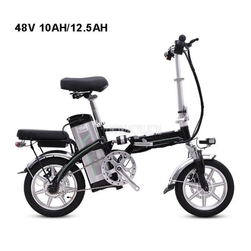Mini Bike Folding Electric Bike 14inch Wheel 240W Motor E Bike Electric Bicycle Scooter Two Seat 48V 10AH/12.5AH Lithium BatteryMini Bike Folding Electric Bike 14inch Wheel 240W Motor E Bike Electric Bicycle Scooter Two Seat 48V 10AH/12.5AH Lithium Battery