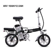 Mini Bike Folding Electric Bike 14inch Wheel 240W Motor E Bike Electric Bicycle Scooter Two Seat 48V 10AH/12.5AH Lithium Battery все цены