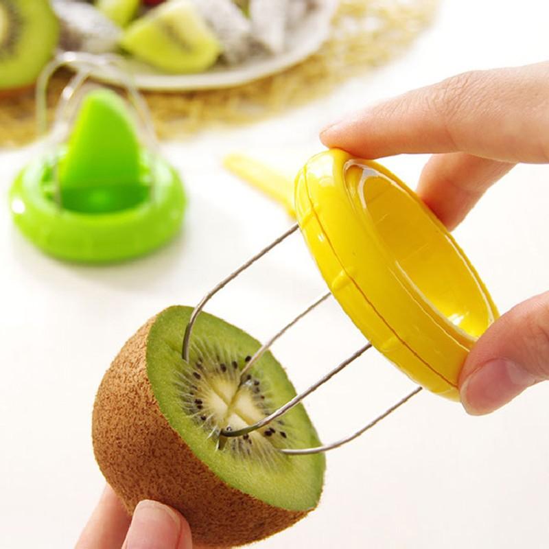 Gadgets de cocina 2 en 1 Cortador de Peeler de la Fruta de Kiwi Herramientas Inc