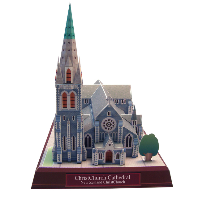 Christchurch Cathedral New Zealand Craft Paper Model Architecture