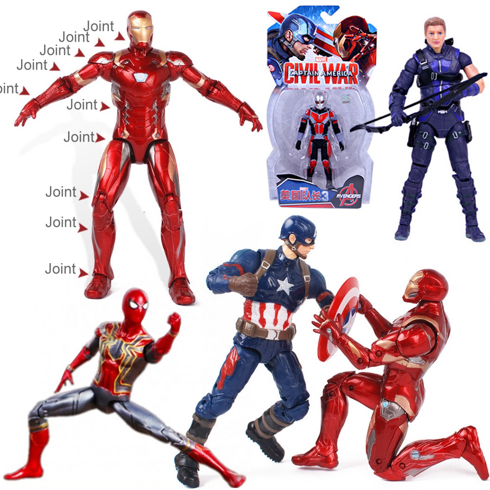 Hawkeye Avengers Infinity War Endgame Marvel Acton Figure Captain America Iron Ant Man BJD SHF Figuarts Collectible Model Toys image