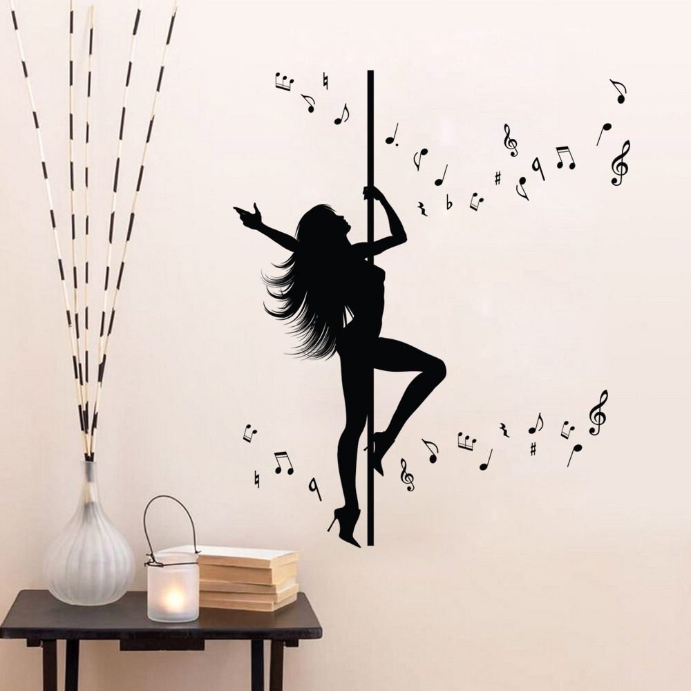 New Caved Dancing Women Wall Stickers Extra Large 127x106cm Wall Art