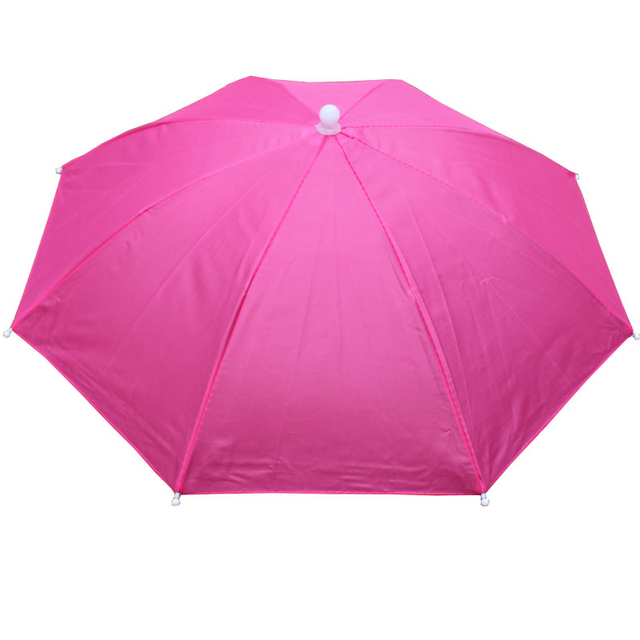 Lightweight Portable Head Rain Sun Umbrella Unisex