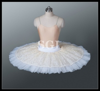 Free Shipping Retail Ballet Half Tutu Skirt With Pants Child Adult Size Ballet Pancake 9 Layers