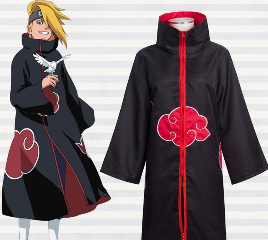 Japanese Anime Naruto cosplay costume Akatsuki ...