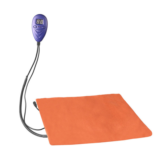 LemonBest Pets Heating Pad Electric Warming Mat Chew Resistant/7 Grade Temp for Dogs Cats Beds with Blue Removable Cover