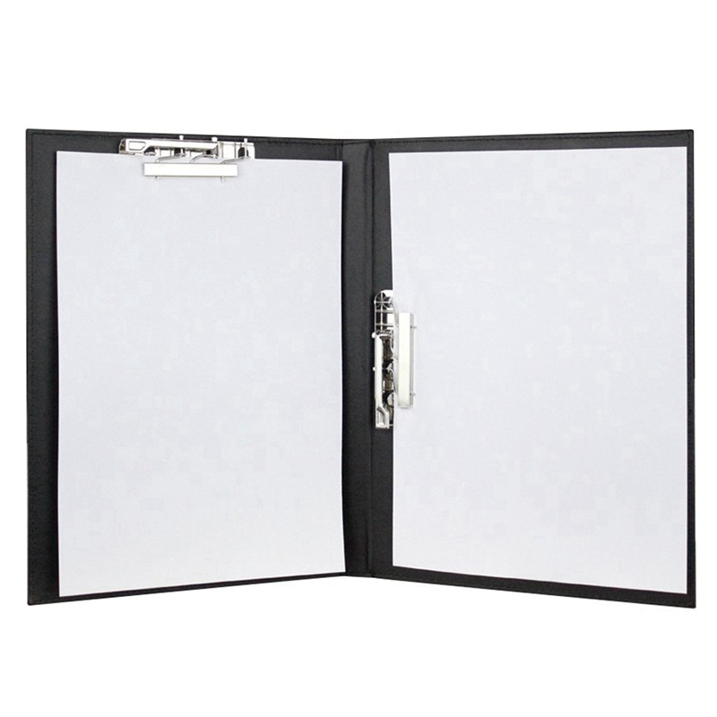 A4 File Folder Loose-Leaf Organizer Clipboard Metal Spring Action Clamp Binder Business Office Conference Documents Refillable