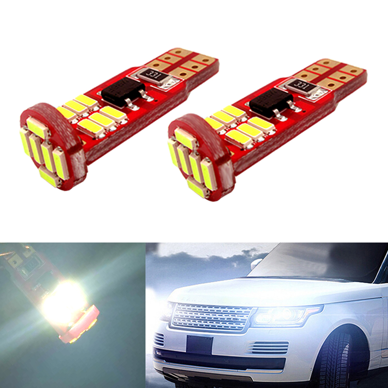 2x T10 4014 SMD 18 LED W5W Parking Lamp Clearance Light For Land Rover v8 discovery 4 2 3 x8 freelander 2 defender A8 a9