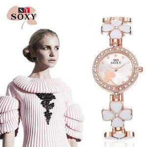 New Fashion Luxury Rhinestone Watches Women Stainless Steel Quartz Bracelet Watch For Ladies Dress Watches montre femme AC062