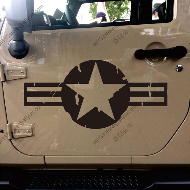 Usaf us air force star vet veteran distressed car sticker decal vinyl bumper truck window die