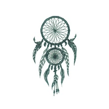 Wyuen Waterproof Temporary Tattoo Stickers For Adults Kids Body Art Ancient Catch The Dream Wind Chimes Fake Women Tatoo O-023