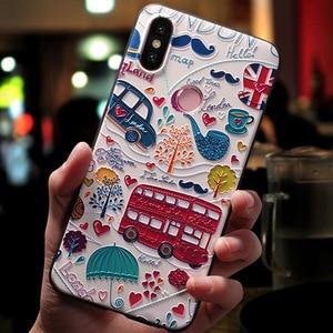 3D Print Emboss Soft TPU Phone Case For Xiaomi Redmi S2 Mi A2 Lite A1 5X 6X for 6A 4A Plus 3S Note 3 4 4X 5 5A 6 Pro Case Cover