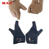 One Pair Archery Glove Protector Cow Leather Adjustable Size Hand Right Hand and Left Hand Guard Protect Archery Hunting