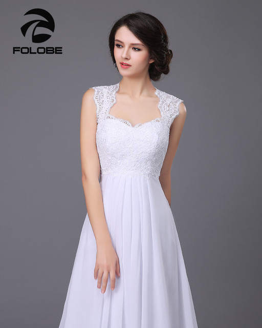 Vestido De Noiva Custom Made Białyivory Line Szyfonu Suknia ślubna
