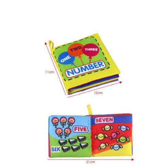 2019 ผ้านุ่มหนังสือเด็กทารกเด็กหญิงน่ารัก 0 ~ 12 เดือนหนังสือเด็ก Rattle ของเล่นผ้าทารกพัฒนา