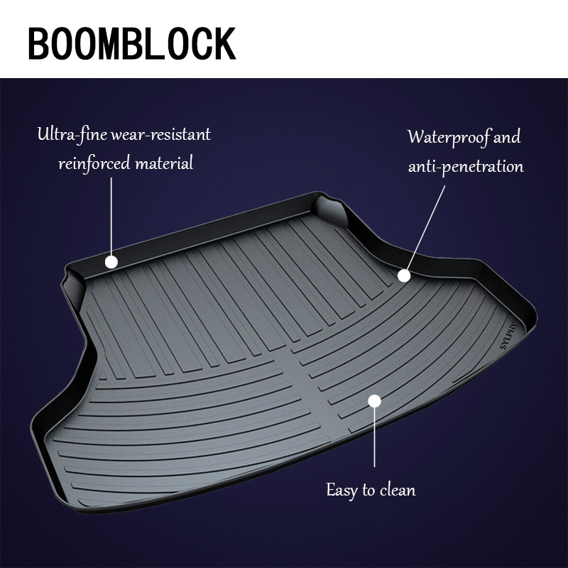 BOOMBLOCK Car Special Trunk Floor Foot Dustproof Accessories For Nissan Sylphy B17 X-trail T31 T32 Tiida Teana J32 L33 Qashqai цены
