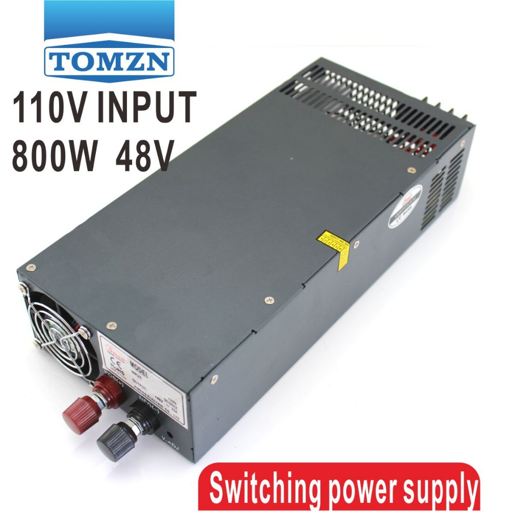 800W 0V TO 48V 16.6A 110V Single Output Switching power supply for LED Strip light AC to DC 1200w 48v adjustable 220v input single output switching power supply for led strip light ac to dc