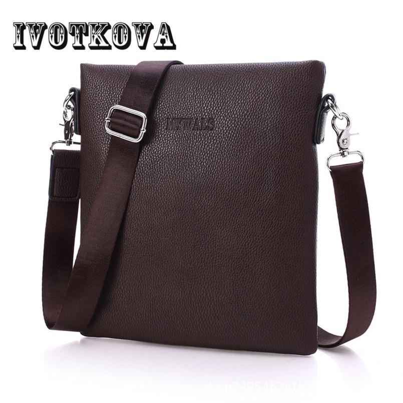 купить IVOTKOVA Famous Brand Bag Men Messenger Bags Men's Crossbody Small sacoche homme Satchel Man Satchels bolsos Men's Travel по цене 708.95 рублей