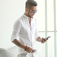 new spring & summer Cotton Linen shirt men casual long sleeve men shirt Mandarin Collar camisa social brand clothing S2171
