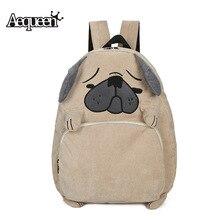 Aequeen холст Для женщин рюкзак школьный милая собака Вышивка вельвет Рюкзаки для подростков Обувь для девочек женские плюшевые pack