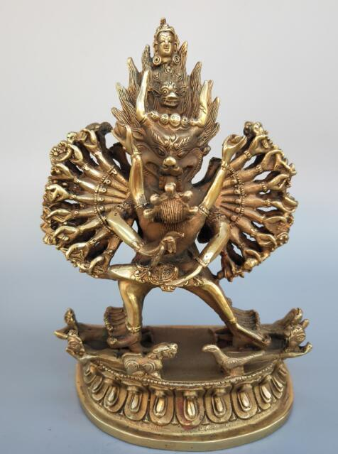 Exquisite pure brass dragon head King Kong thousand-handed Buddha statueExquisite pure brass dragon head King Kong thousand-handed Buddha statue