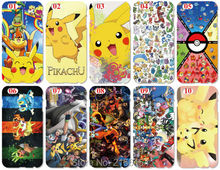 Wholesale lot Pokemons Plastic Hard Cell Phone Cover For iphone 4S 5 5S SE 5C 6 6S Plus For iPod Touch 4 5 6 Mobile phone Case