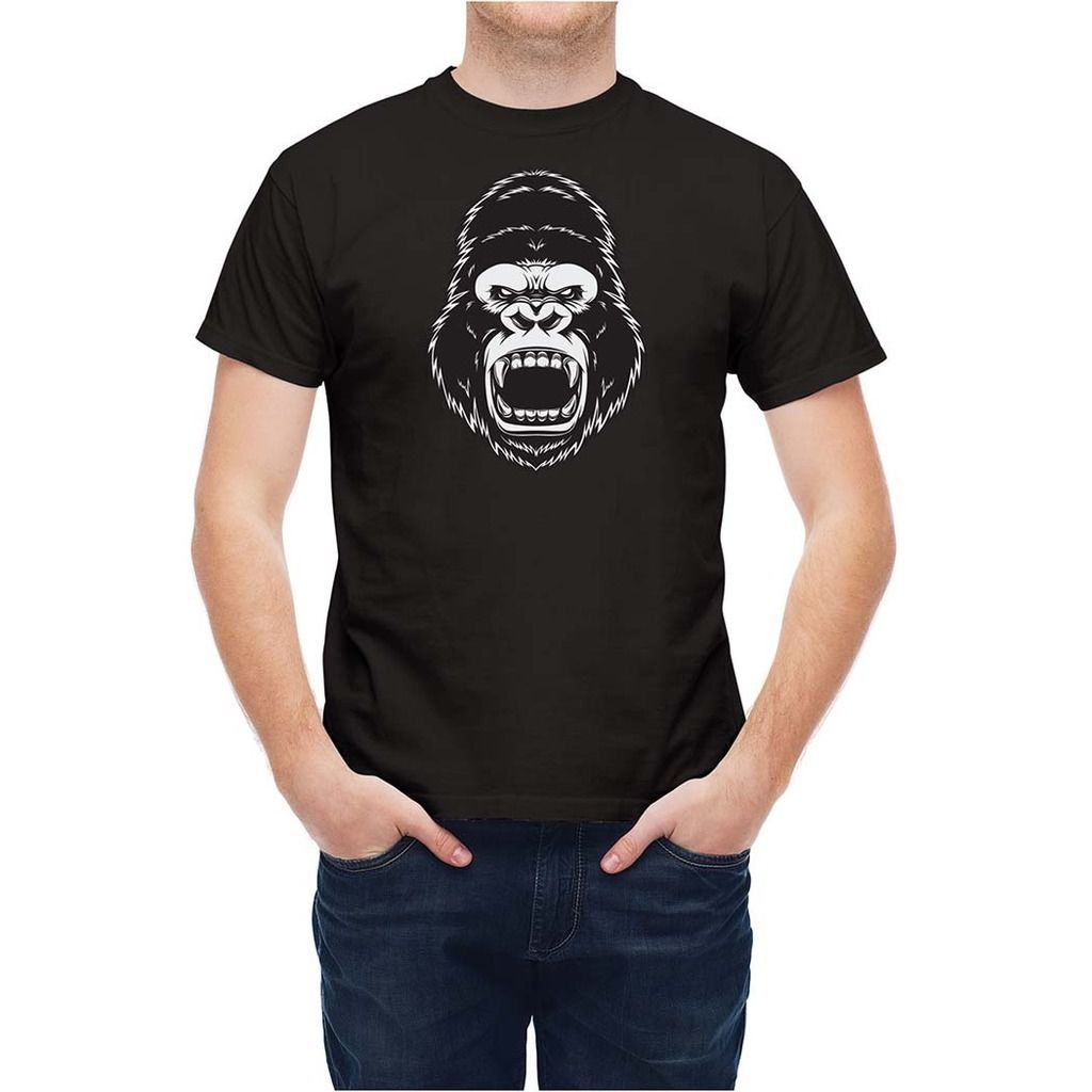 2017 New Popular Aggressive Ape Head T25548 3D Print Mens 100% Cotton Tee Shirts Summer Popular Short Sleeve Tee