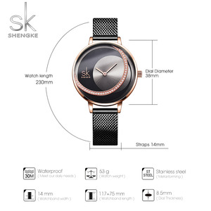 Image 4 - SK אופנה יוקרה מותג נשים קוורץ שעון יצירתי דק גבירותיי שעון יד עבור Montre Femme 2019 נשי שעון relogio feminino