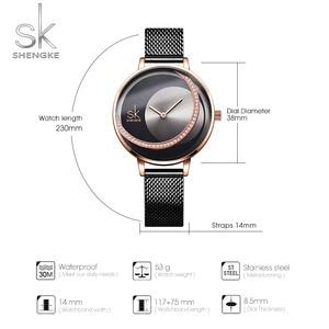 Image 4 - Shengke Crystal Lady zegarki luksusowa marka kobiety sukienka zegarek oryginalny Design zegarki kwarcowe kreatywny Relogio Feminino