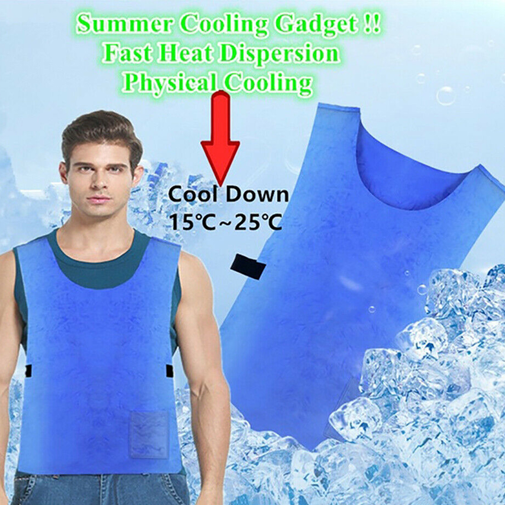 2019 Summer Cold Anti-heat Cooling Vest PVA Waterproof Fabric High Temperature Protective Ice  Outdoor Hiking Vest Dropshpping