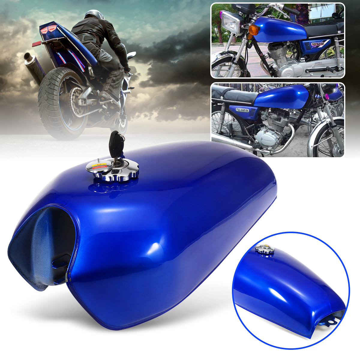 B4 Peda Cafe Racer Retro Fuel Tank Universal Motorcycle Vintage Suzuki Gn250 Kit 9l Gas With Thick Iron Cap Switch For Honda Cg125