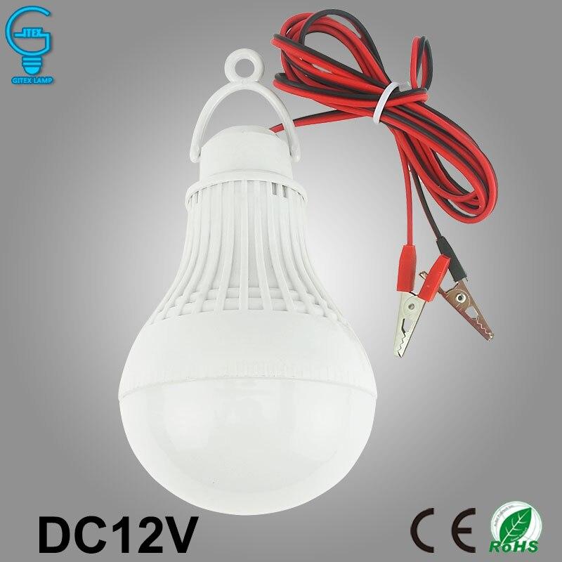 Высокое качество светодиодный лампы 12 В DC 3 Вт 5 Вт 7 Вт 9 Вт 12 Вт светодиодный светильник 6000 К SMD 5730 дома Кемпинг Охота аварийного открытый свет Lamparas