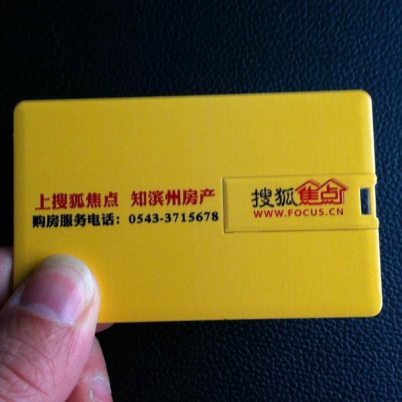 Custom Logo ABS Bank Card Shape Pen Drive Waterproof Key USB 2.0 Flash Drive 16GB 8GB 4GB Memory Stick U Disk Pendrive Diy Image